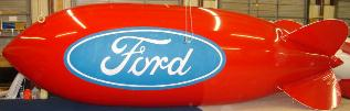 Advertising Blimp - Red helium blimp with Ford logo