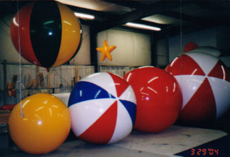 Advertising Balloons - 4.5ft-8ft. We manufacture our helium advertising balloons in the USA.