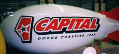 advertising blimp - 14ft. - Capital Dodge logo